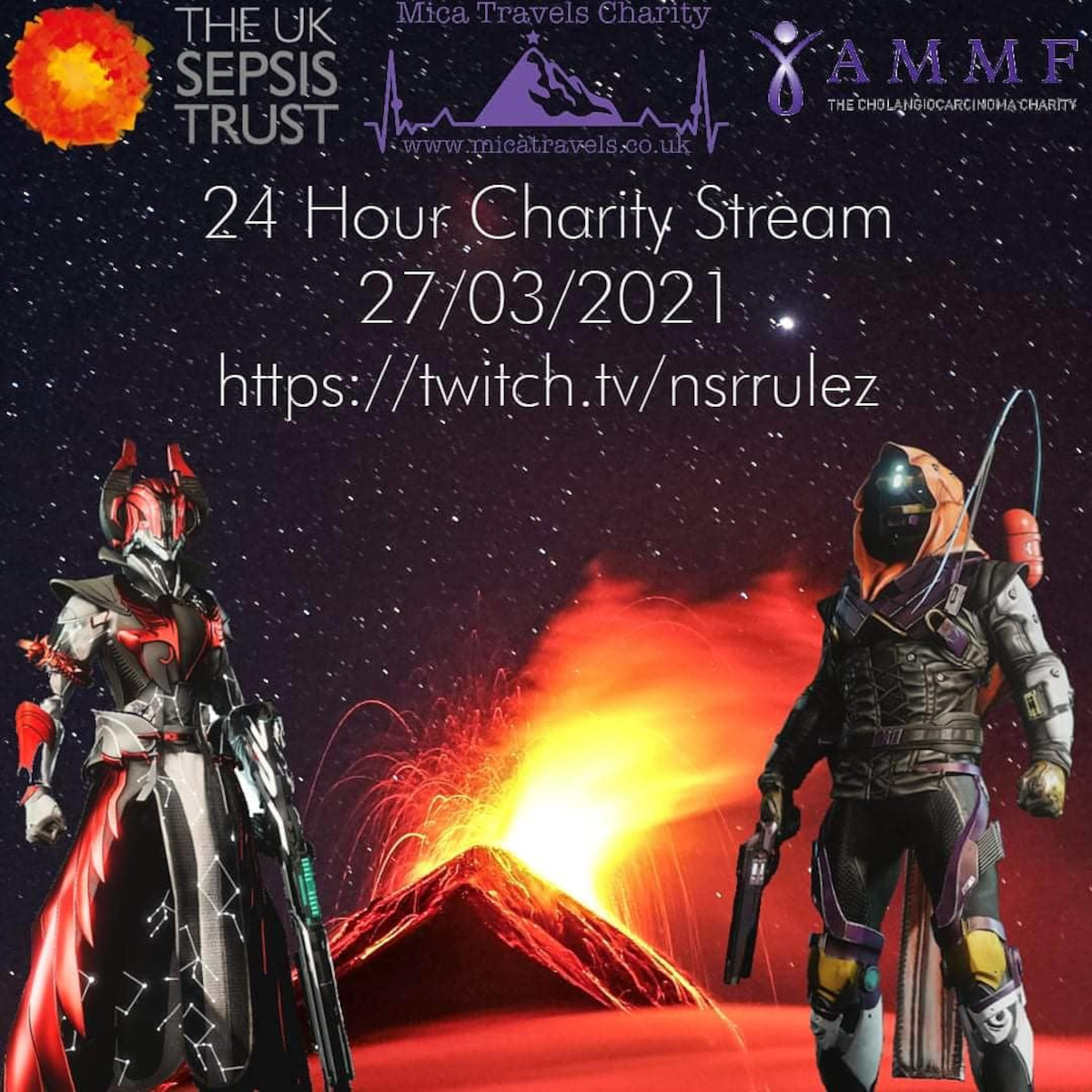 Destiny 2 – 24 Hour Gaming Stream for Charity